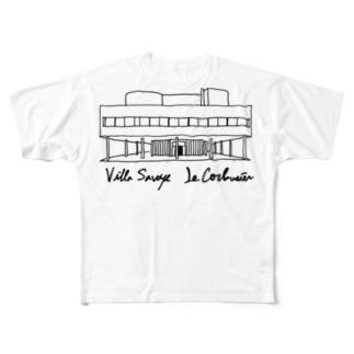 コルビジェ カーサ・サヴォア Full graphic T-shirts