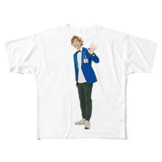 五十島 啓人 フルグラフィックTシャツ