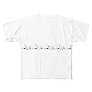 ハニーちゃん られつ Full graphic T-shirts