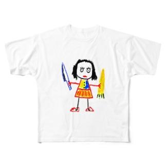 ママン Full graphic T-shirts