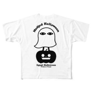 メジェド ハロウィン Full graphic T-shirts