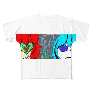 周波数 Full graphic T-shirts