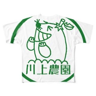 川上農園丸ロゴ フルグラフィックTシャツ