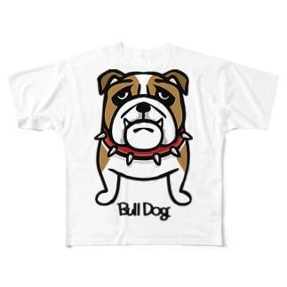 ブルドッグ。 フルグラフィックTシャツ