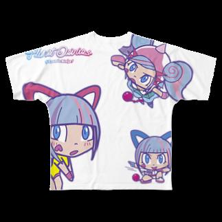 Cosmic Ninja -YAMIICHI-のオシリたゃん Full graphic T-shirts