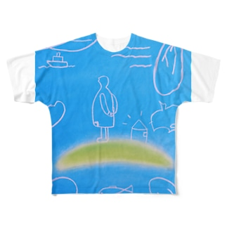 詩人と小さな家 Full graphic T-shirts