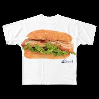 3pondSのベーコンサンド! フルグラフィックTシャツ