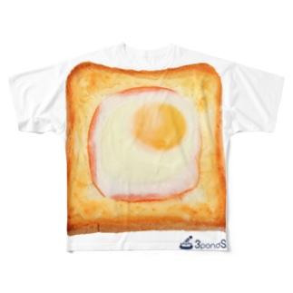 エッグトースト Full graphic T-shirts