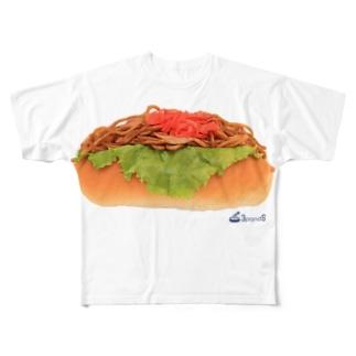 ヤキソバパン フルグラフィックTシャツ
