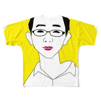 月に住むイケハヤ フルグラフィックTシャツ