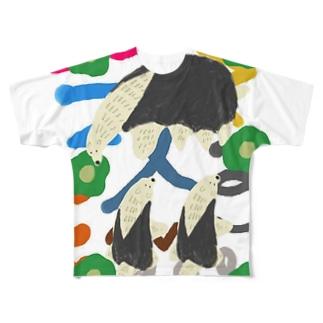 アリクイの親子 Full graphic T-shirts