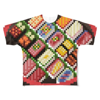 寿司のドット絵 Full graphic T-shirts