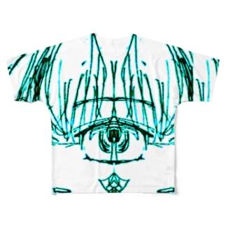 透過画像 Full graphic T-shirts