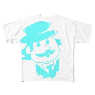 おじさま(青) フルグラフィックTシャツ
