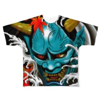 般若と紅葉 Full graphic T-shirts