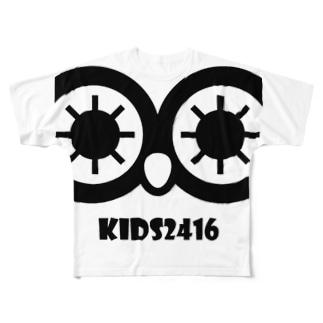 kidsroomにじいろ Full graphic T-shirts