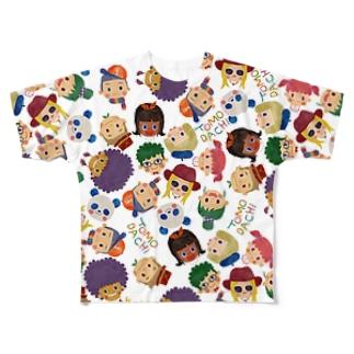 TOMODACHI柄Tシャツ(WHITE) フルグラフィックTシャツ