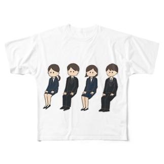 同じ顔の就活生 Full graphic T-shirts