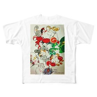 お香 Full graphic T-shirts