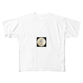 スーパー丸だしムーン Full graphic T-shirts
