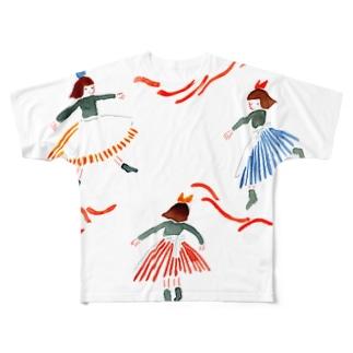 三人の女の子 Full graphic T-shirts