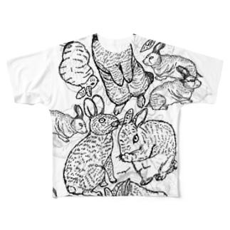 真昼のうさぎ フルグラフィックTシャツ