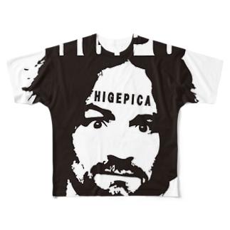 ヒゲピカ チャールズ・マンソン Full graphic T-shirts