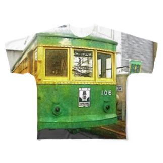 江ノ島電鉄 Full graphic T-shirts