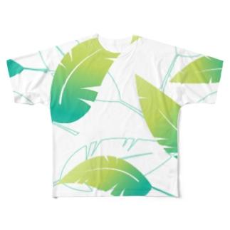 葉っぱ Full graphic T-shirts