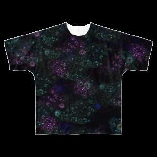 nue-designのPsychedelia-サイケデリア-フルグラフィックTシャツ