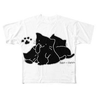 にゃん三姉妹 2 Full graphic T-shirts