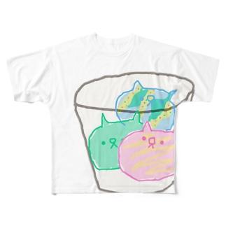 サーティーニャン Full graphic T-shirts