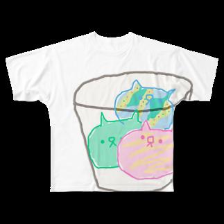 住吉ぬこたのサーティーニャンフルグラフィックTシャツ