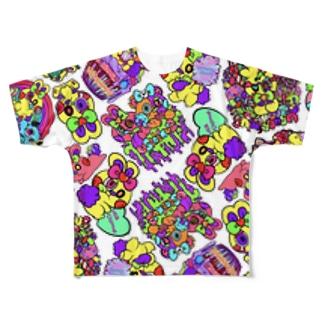 ぴょん太くん Full graphic T-shirts