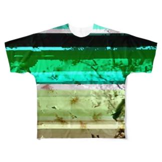 Glitch(SAKURA) Full graphic T-shirts