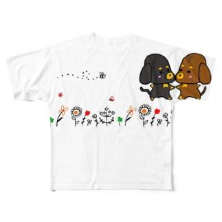 ほのぼのダックス フルグラフィックTシャツ