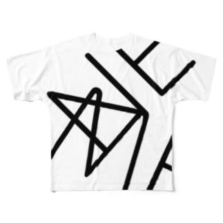 ne/me フルグラフィックTシャツ