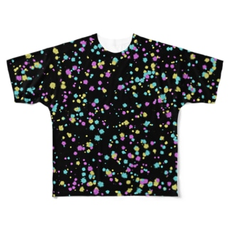 Random Paint01(Black) Full graphic T-shirts