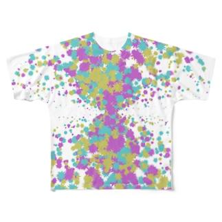 Random Paint03(White) フルグラフィックTシャツ
