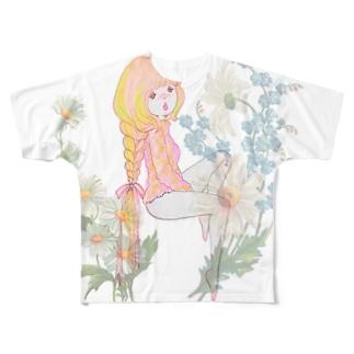 h i m i t s u フルグラフィックTシャツ