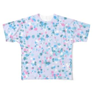 Random Paint(Ocean Colors02) フルグラフィックTシャツ
