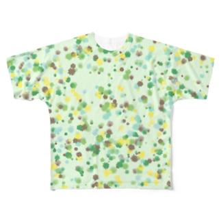 Random Paint(Botanical Colors02) フルグラフィックTシャツ