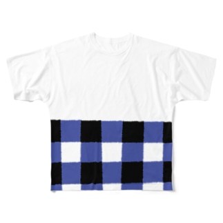GINGHAM フルグラフィックTシャツ