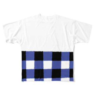 takeshitsuboiのGINGHAM フルグラフィックTシャツ
