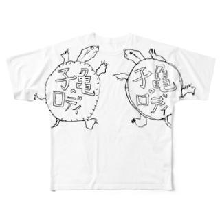 子亀のロディ Full graphic T-shirts