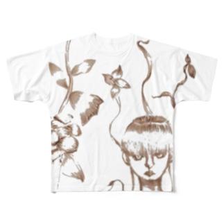 植物と人 フルグラフィックTシャツ