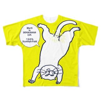 ボカシ入り逆さマルきいろ Full graphic T-shirts