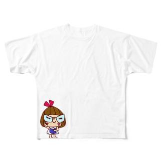ざますリボンちゃん Full graphic T-shirts