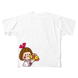 花束リボンちゃん フルグラフィックTシャツ