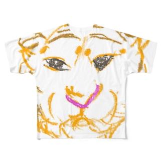 干支(寅年) フルグラフィックTシャツ